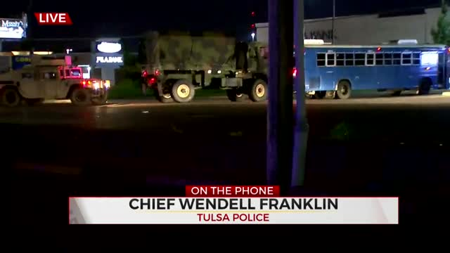 Chief Wendell Franklin: Oklahoma National Guard Assists Tulsa Officers With Protests