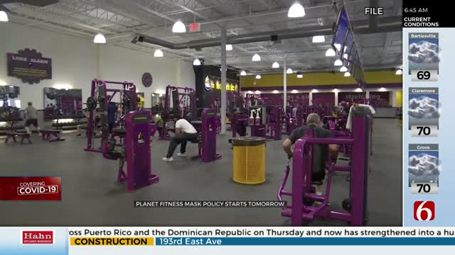 Planet Fitness To Require Face Masks