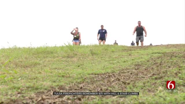 Tulsa Firefighters Do Stair Climb In Remembrance Of 9/11