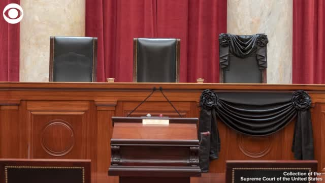 WATCH: Black Drapes Hung Over Supreme Court In Memory Of Justice Ginsburg