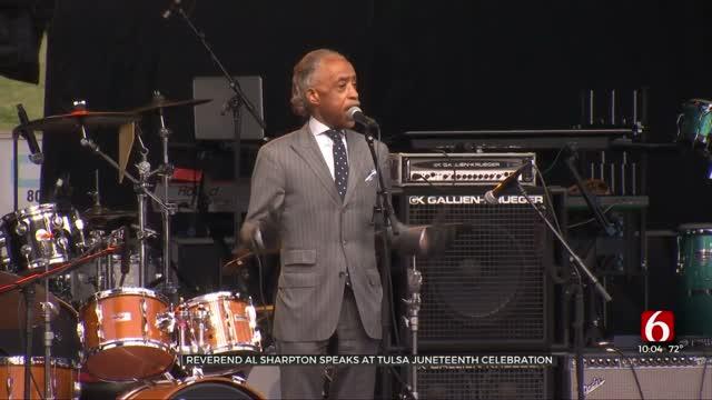 Reverend Al Sharpton Speaks During Tulsa's Juneteenth Commemoration