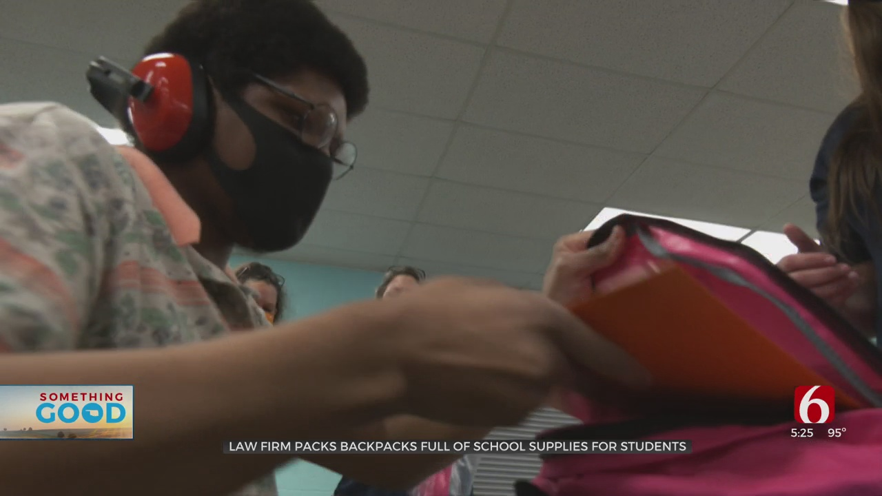 Law Firm Packs More Than 2,000 Backpacks Of School Supplies For Tulsa Students