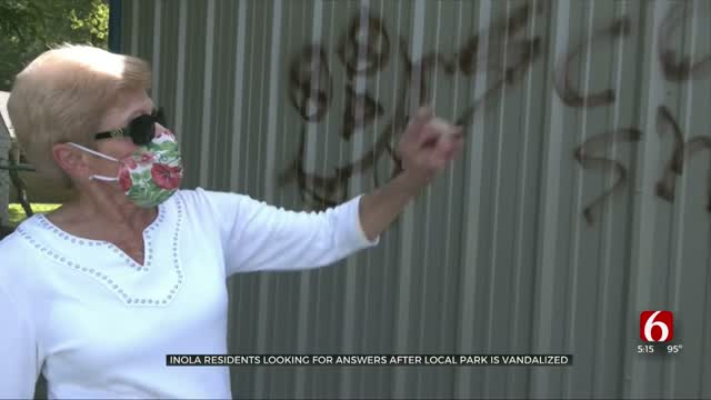 Inola Residents Looking For Answers After Local Park Vandalized