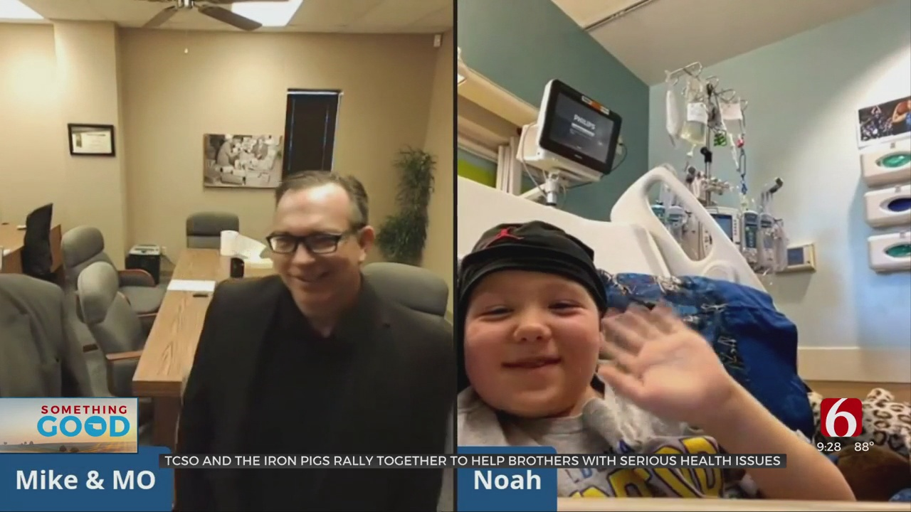 Tulsa Deputies, Bike Group Rally To Support 3 Brothers With Rare Autoimmune Conditions
