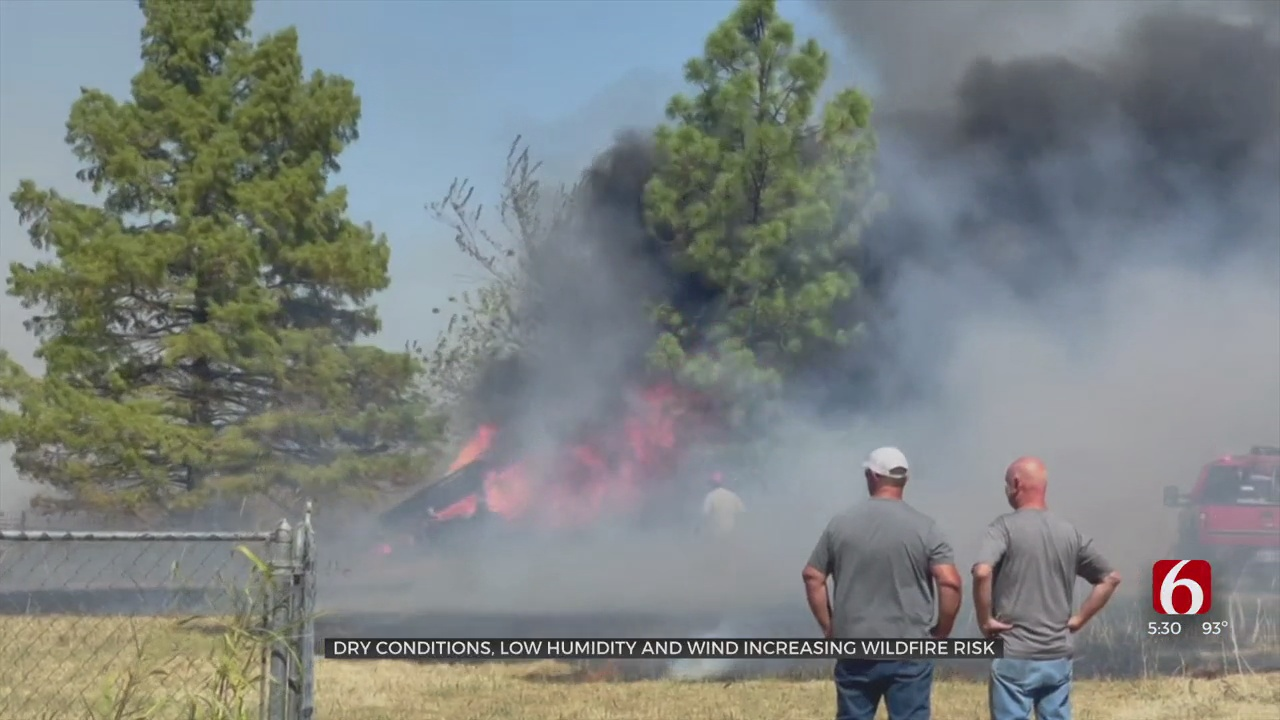 Dry Conditions, Low Humidity & Wind Increasing Wildfire Risk
