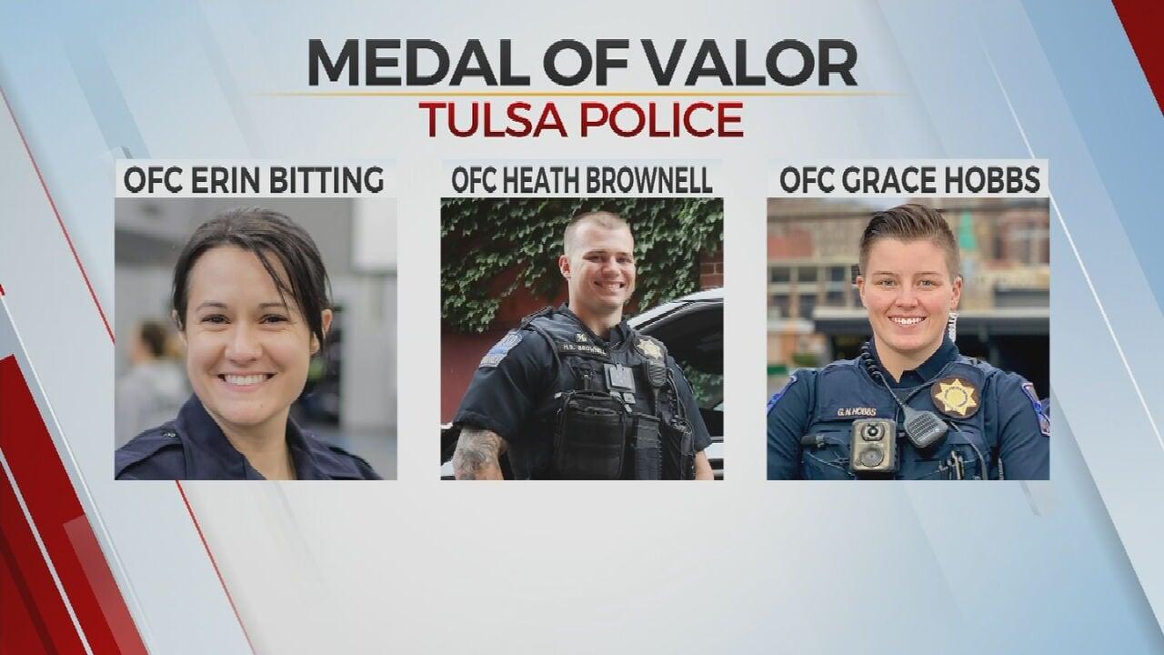 3 Tulsa Police Officers Awarded Medal Of Valor