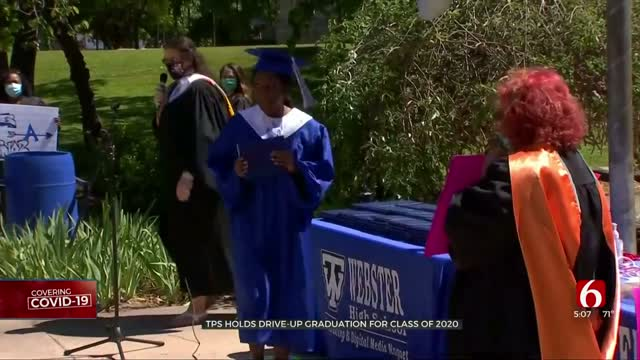 Webster High School Holds Drive-Up Graduation Ceremony