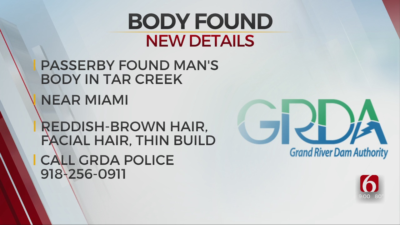 Passerby Discovers Man's Body In Tar Creek