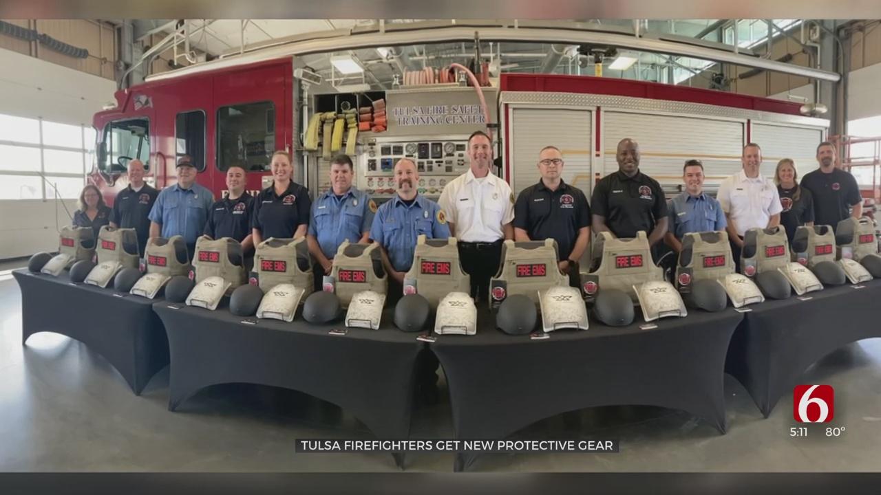 Nonprofit In Colorado Donates New Protective Vests To Tulsa Fire Department