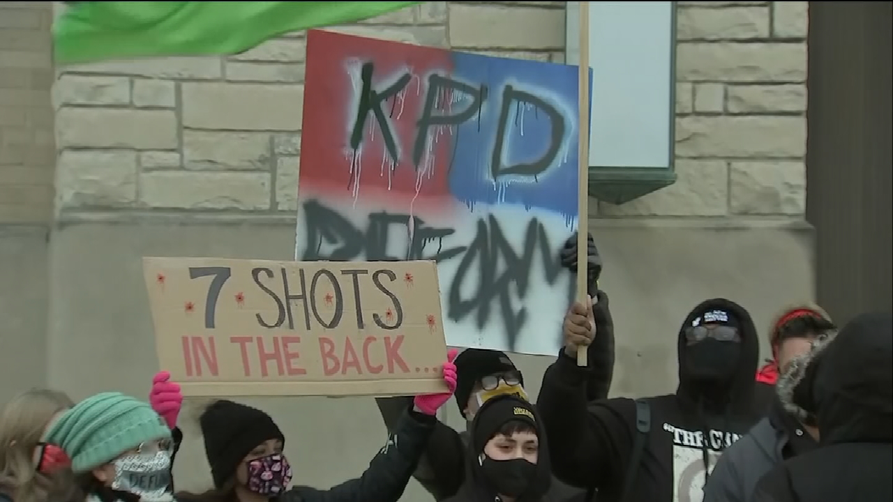 Supporters Of Jacob Blake March To Call For Firing Of Kenosha Officer