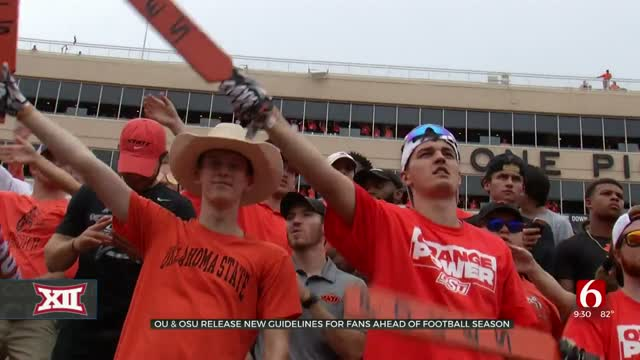 OU, OSU Release New Guidelines For Fans Ahead Of Football Season