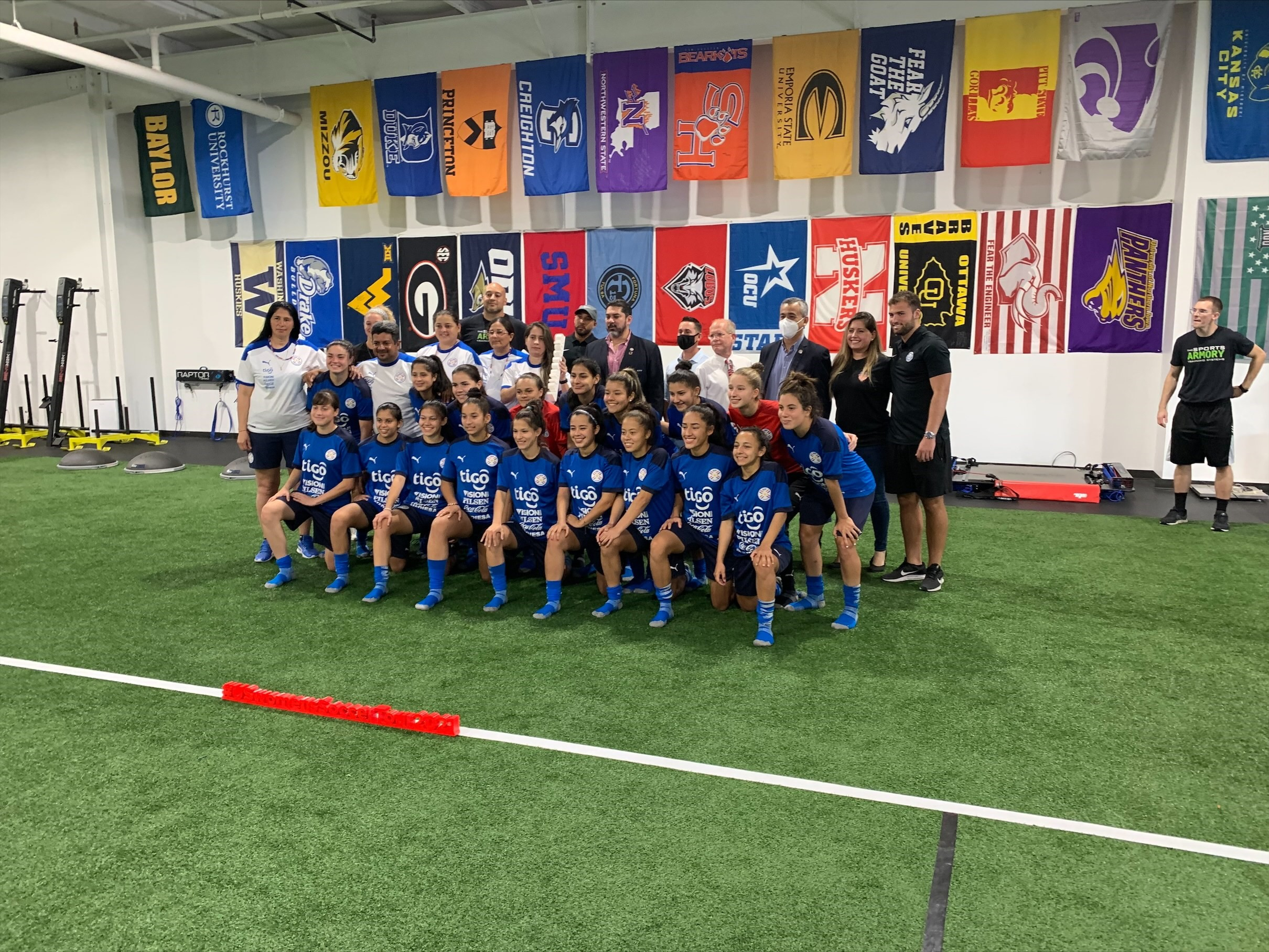 Paraguay Youth National Soccer Team In Tulsa During First Trip To United States