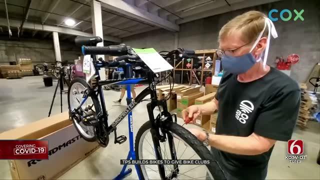 Tulsa Public Schools Gives Several Clubs Bikes