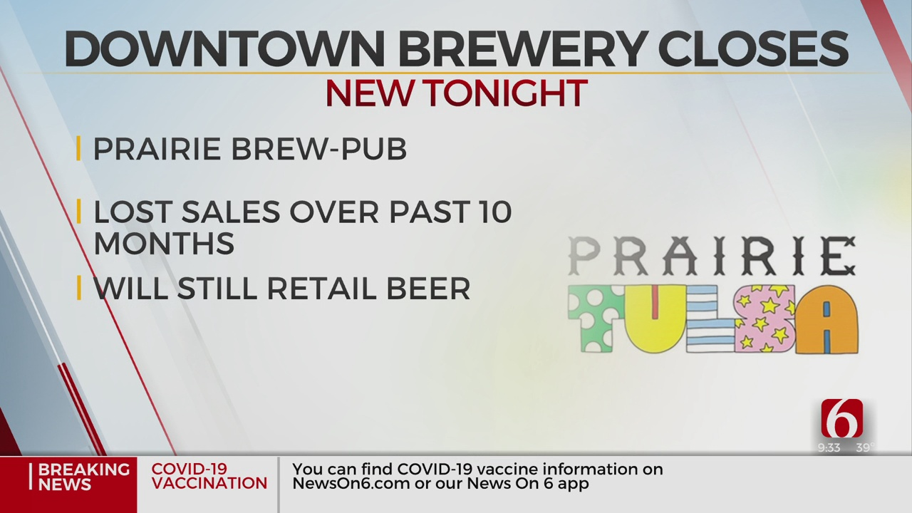 Prairie Brewpub In Downtown Tulsa Closing 'Likely For Good'