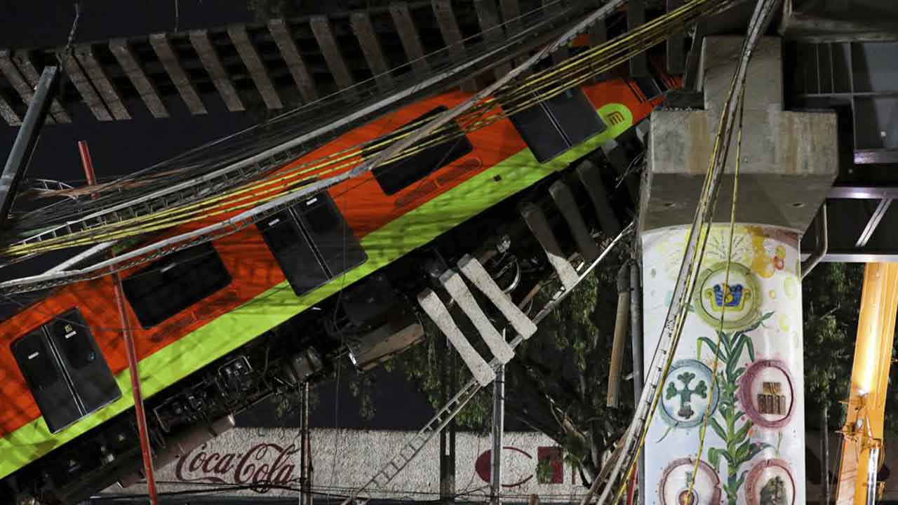 Mexico City Metro Overpass Collapses Onto Road; 20 Dead