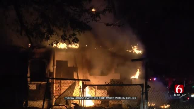 Tulsa Firefighters Respond To House That Caught Fire Twice In 12 Hours