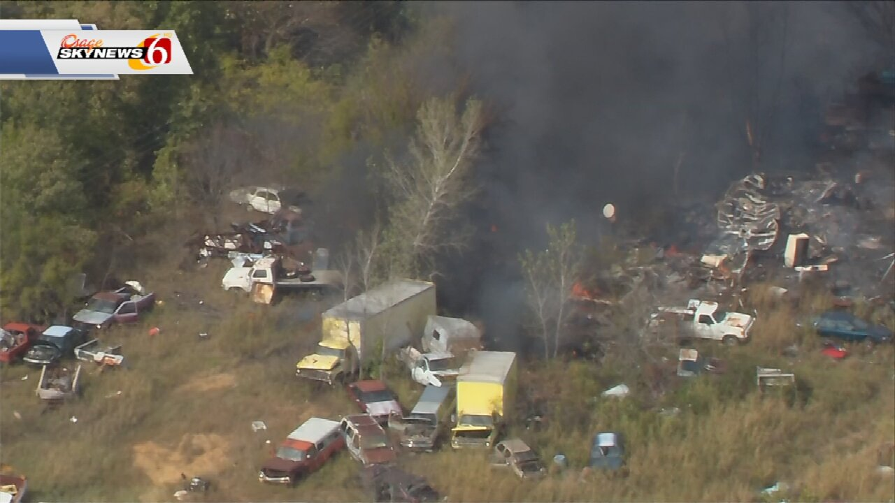 Firefighters Respond To Trash Fire Near Turley; No Injuries Reported