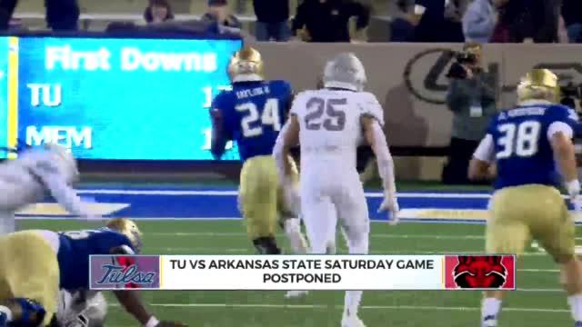 Tulsa, Arkansas State Postponed Due To Player Shortage