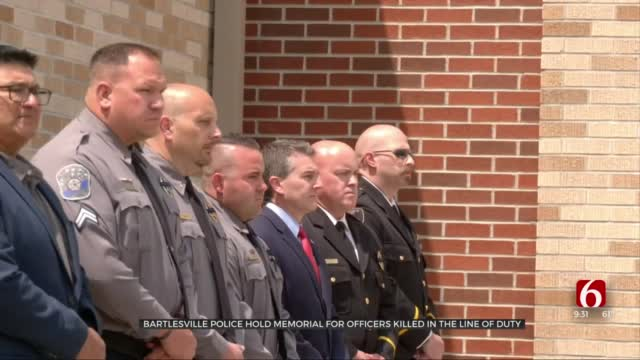 Bartlesville Police Pay Special Tribute To Fallen Washington County Deputy