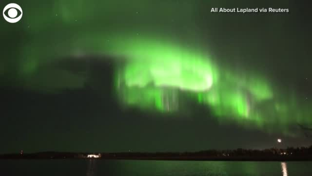 Watch: The Northern Lights Lit Up The Sky In Finland