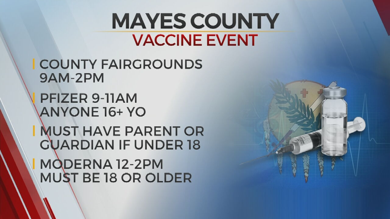 Mayes County Health Department Hosts COVID-19 Vaccination Event
