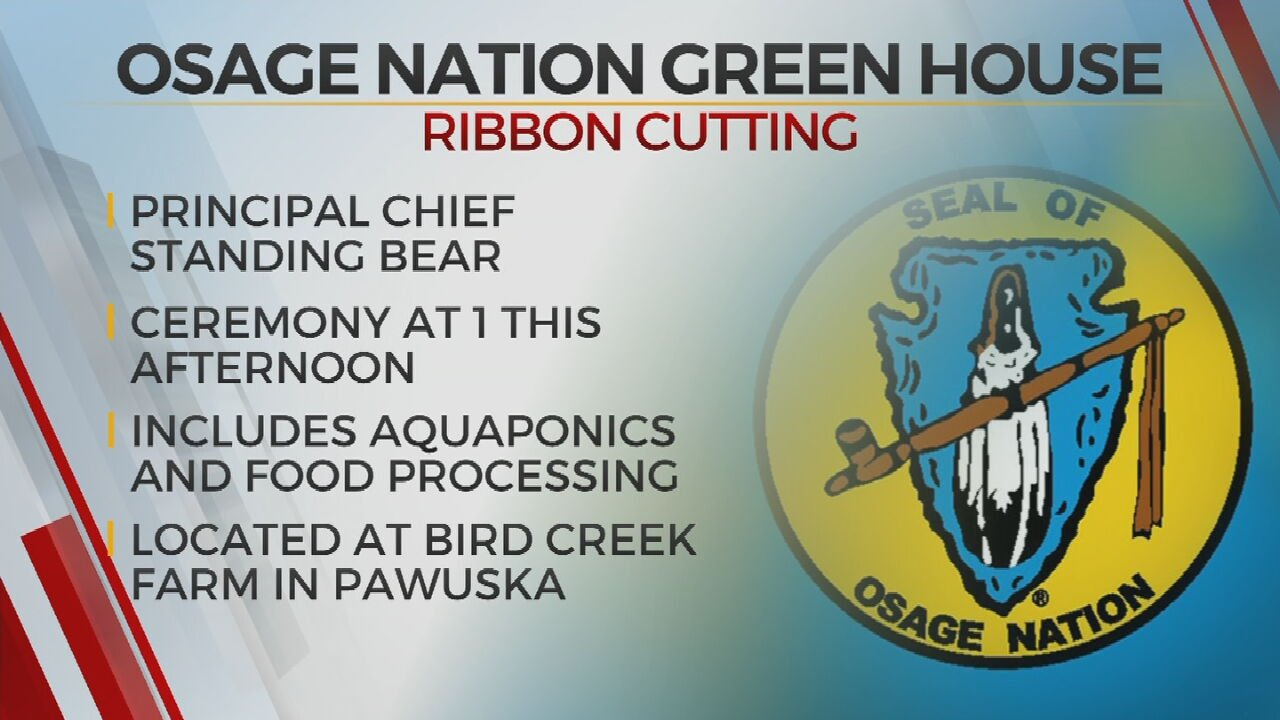 Osage Nation To Hold Ribbon Cutting For New Green House, Programs Building
