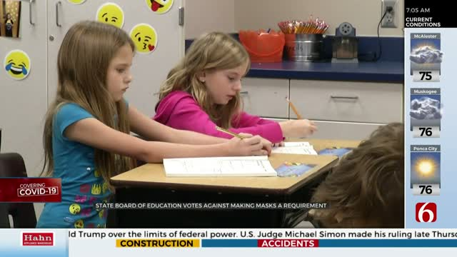 Okla. State Board Of Education Votes Against Mask Mandates, Strongly Suggests Mask Use