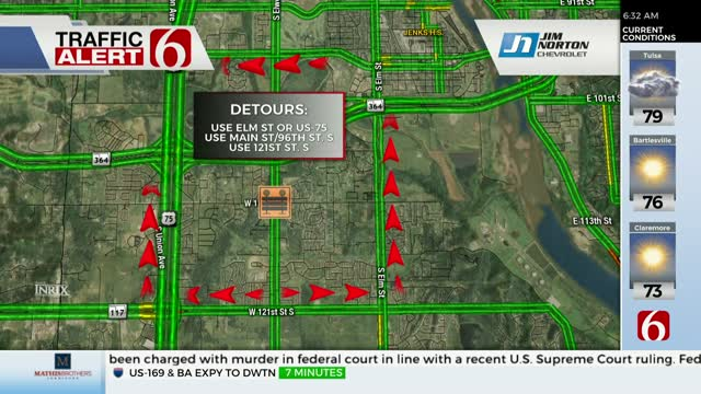 Crews Begin Construction On Busy Jenks Intersection