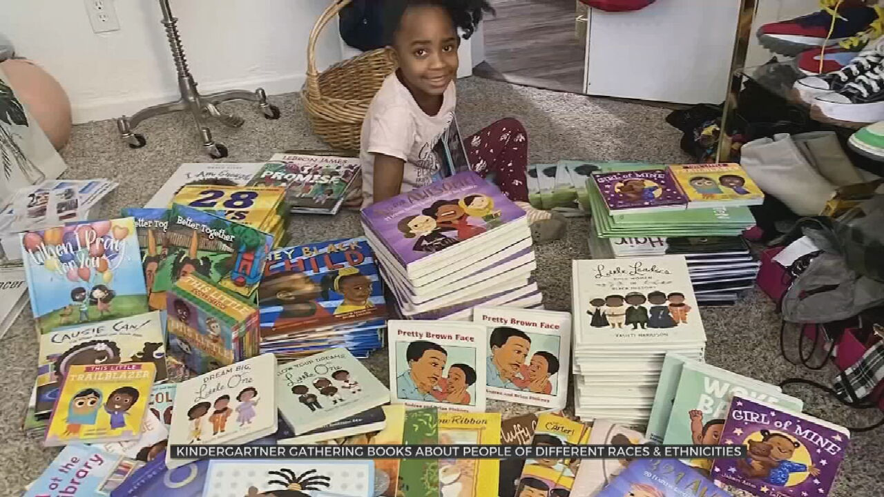 Kindergartener Holds Diversity Book Drive