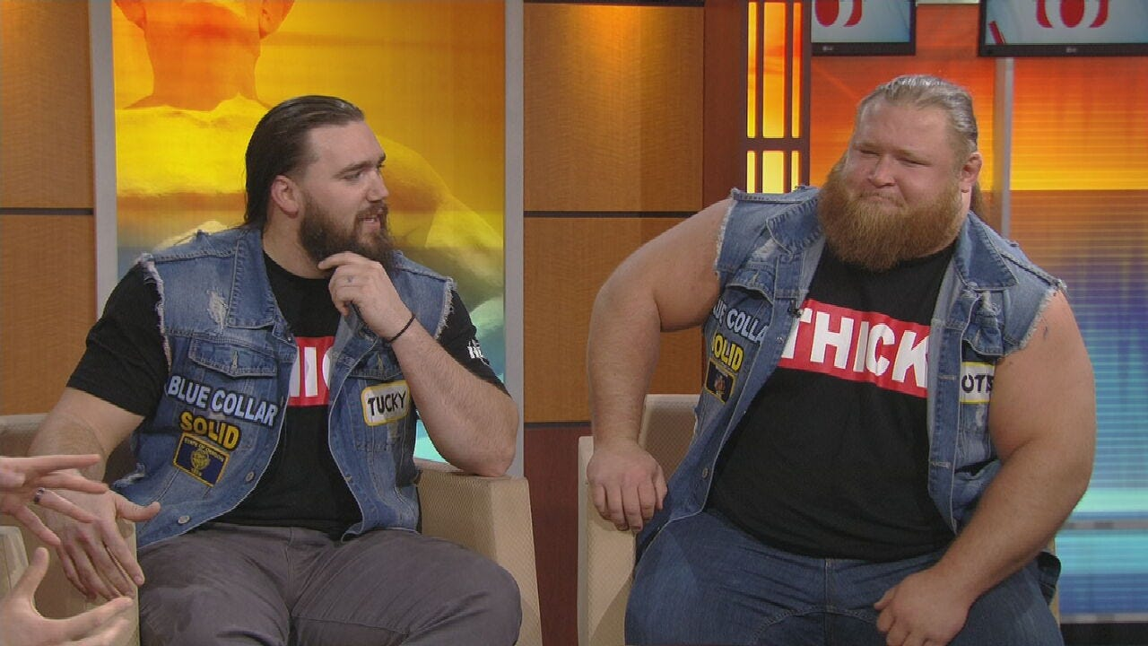 WATCH: WWE's Tag Team Heavy Machinery Stops By News On 6