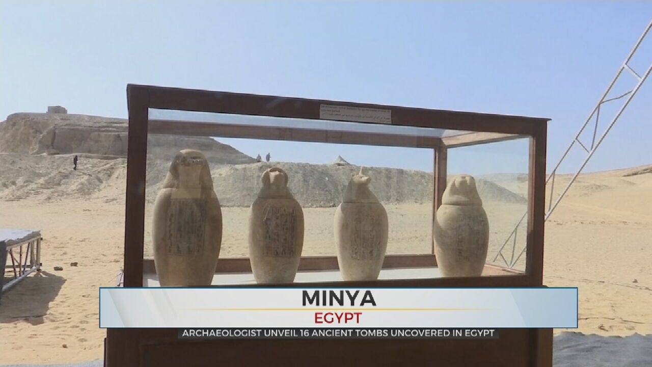 WATCH: Archaeologist Find Ancient Egyptian Artifacts
