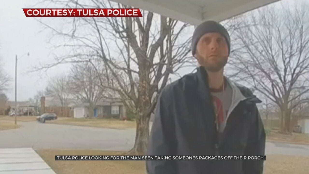 Tulsa Police Searching For Porch Pirate