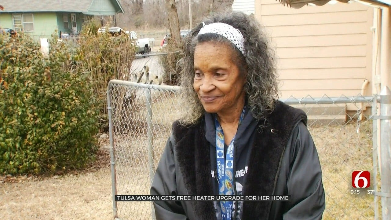 Tulsa Company Gifts Woman AC, Heating System After Spending Winter With No Heat