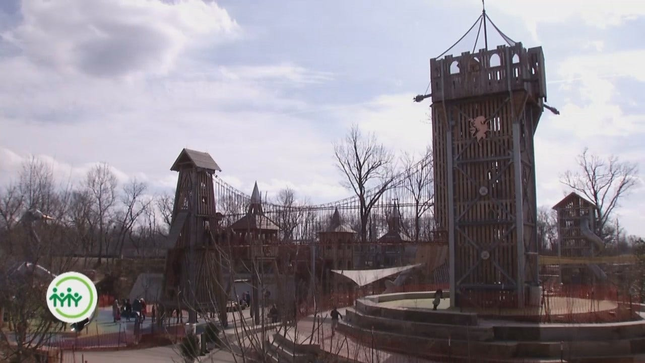 Black Forest Trees Transformed To Gathering Place Playground