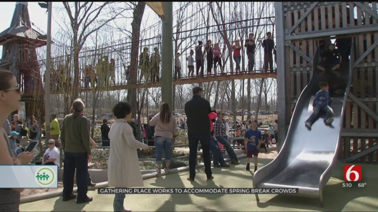 Spring Break Draws Big Crowds To Tulsa Gathering Place
