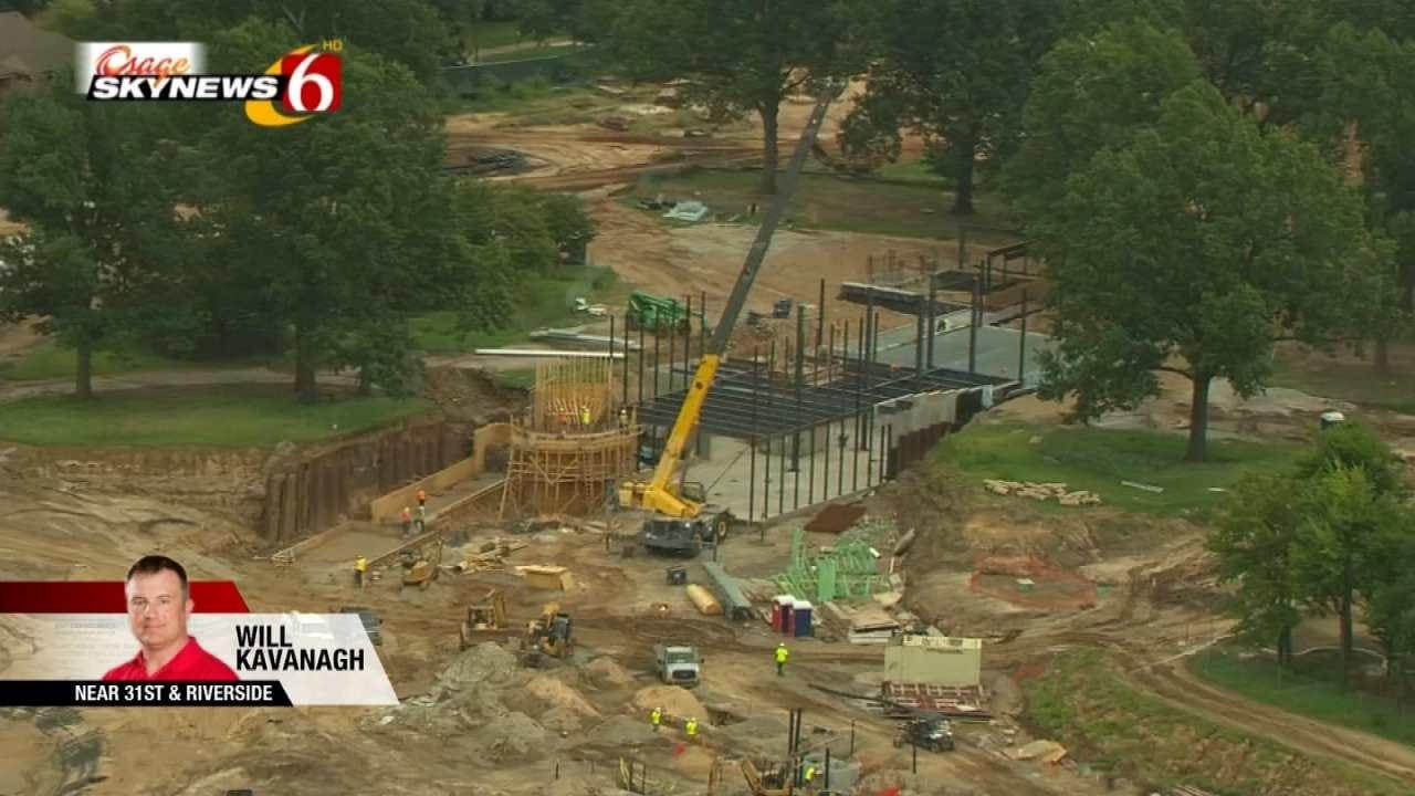 Osage SkyNews 6 HD Flies Over Gathering Place Progress