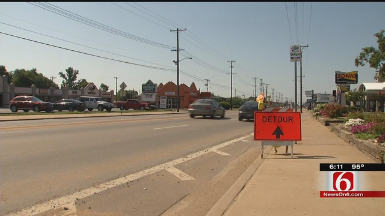 Brookside Traffic Ramping Up With Tulsa Riverside Construction