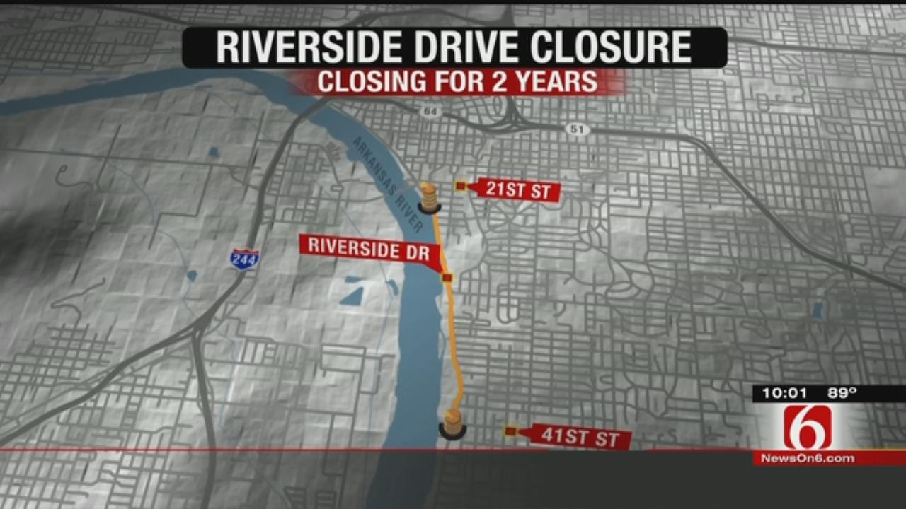 Stretch Of Riverside Drive Closes Until 2017