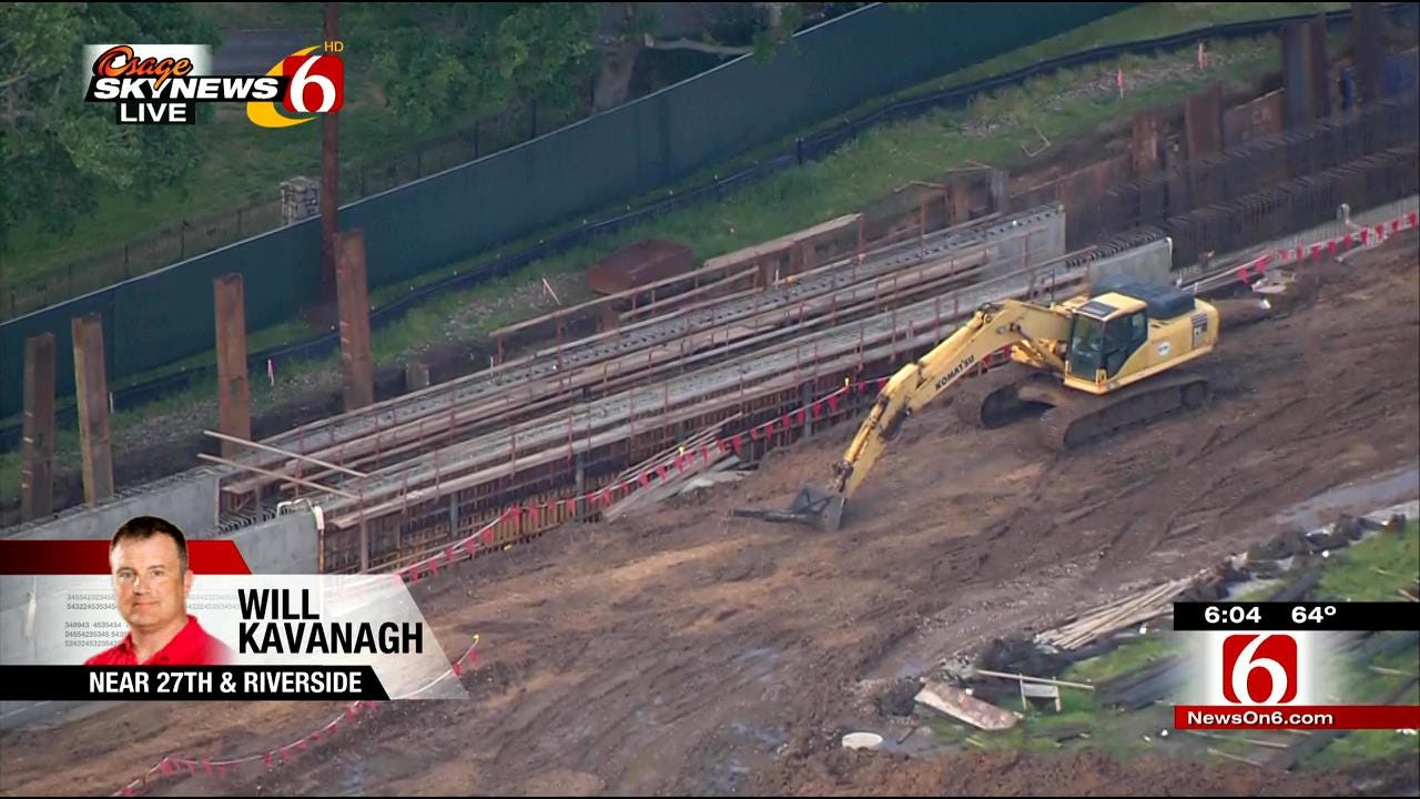 Osage SkyNews 6 HD Flies Over Gathering Park Drainage Work