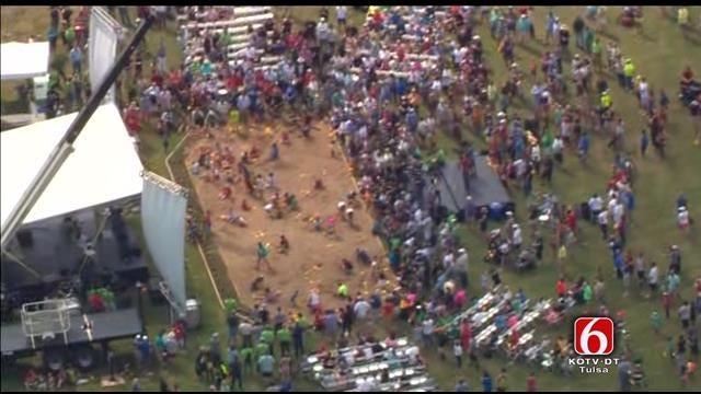 Osage SkyNews 6 Flies Over Gathering Place Celebration