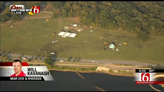 WEB EXTRA: Osage SkyNews 6 HD Over Gathering Place Future Home