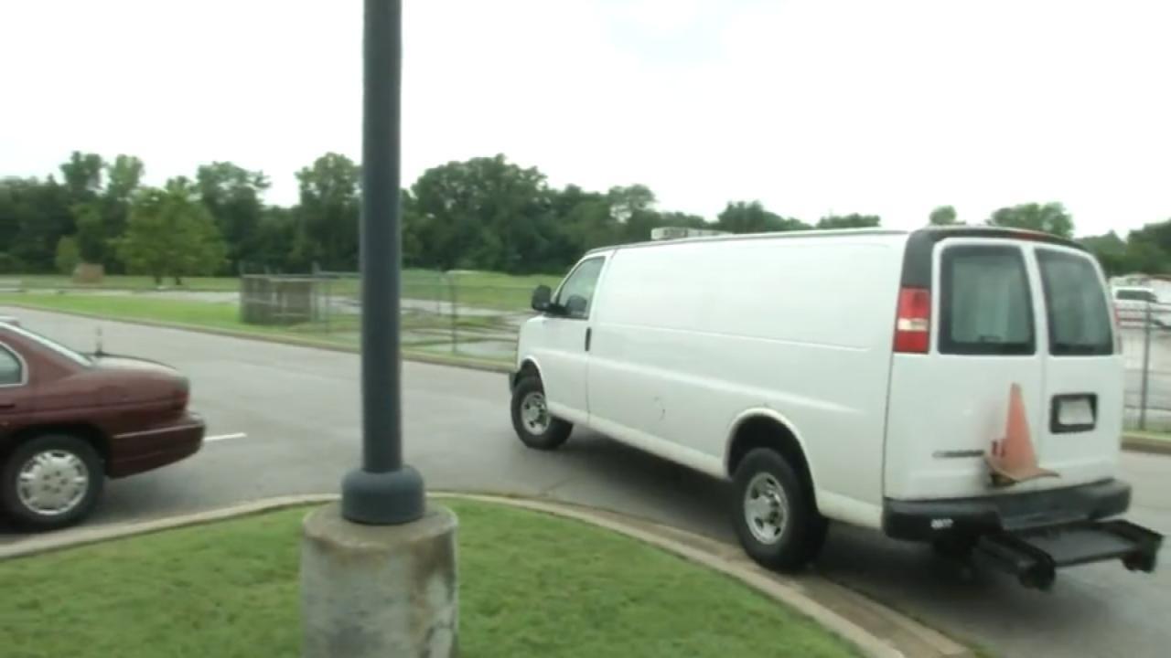 WEB EXTRA: Video Of Broken Arrow Police Van Leaving Station Headed To The Hospital