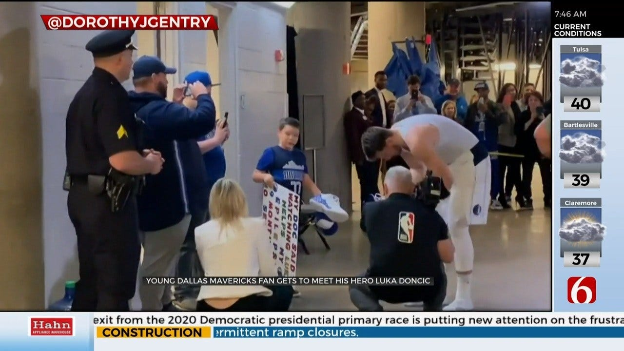 Young Fan Meets NBA Rookie Of The Year Luka Doncic