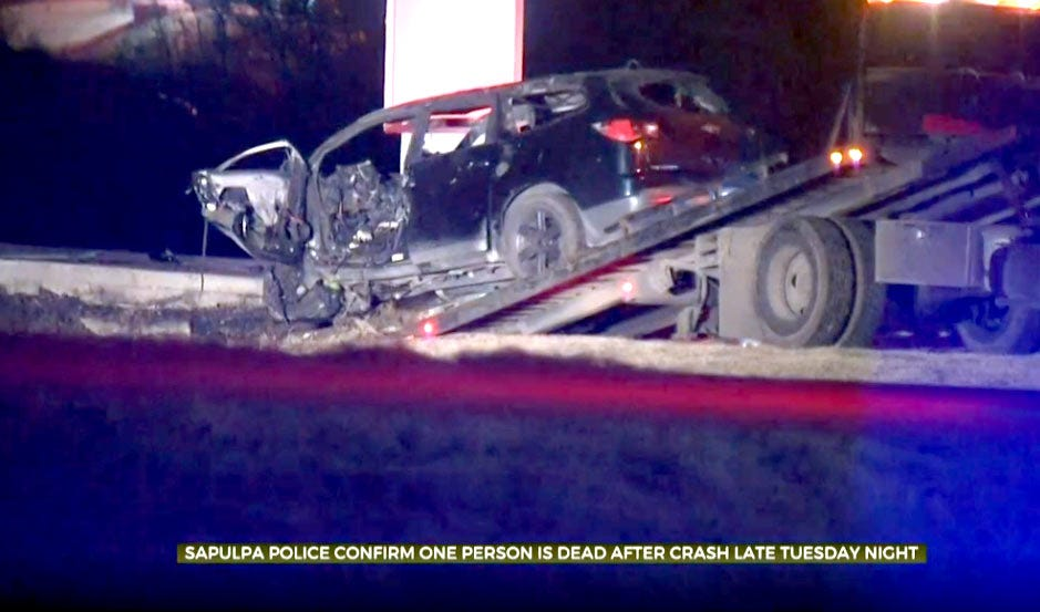 Woman Dead, Toddler Injured In Sapulpa Crash