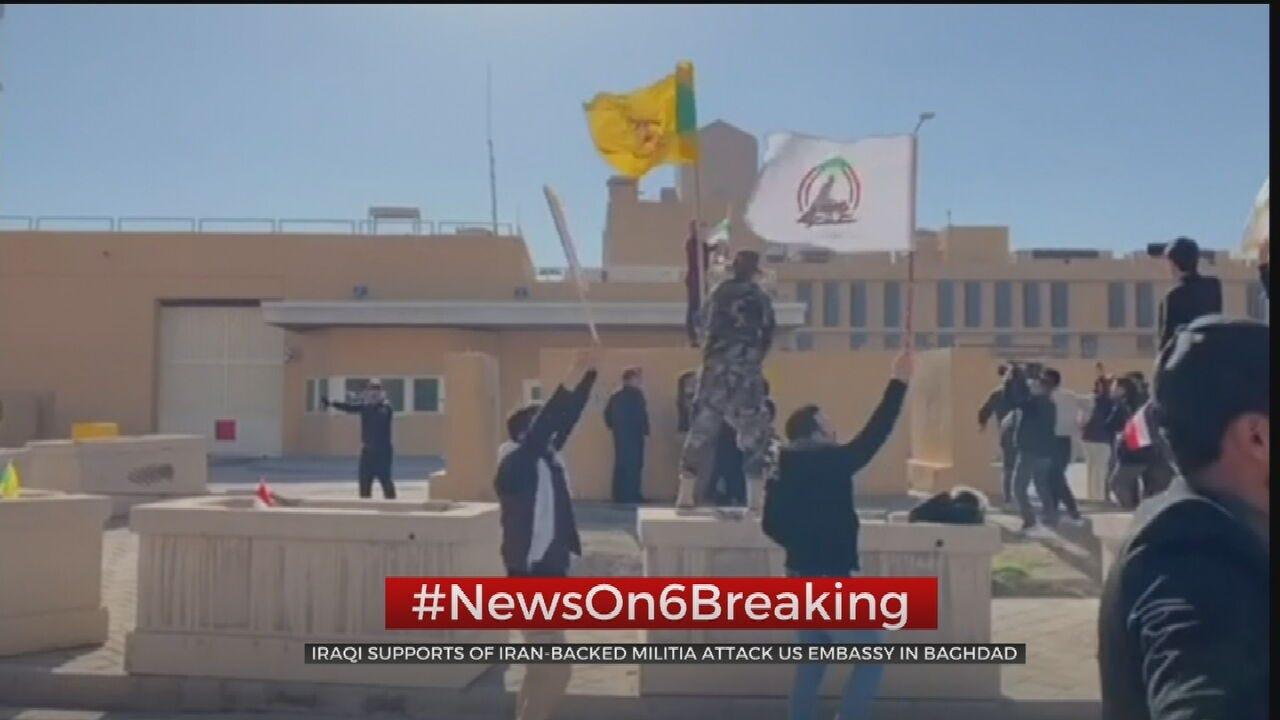 Iraqi Supporters Of Iran-Backed Militia Attack U.S. Embassy