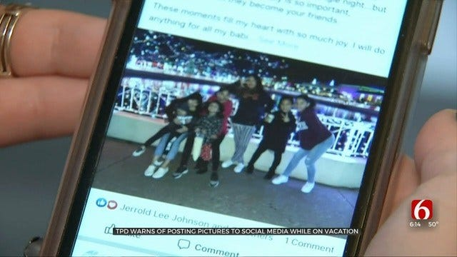 Tulsa Police Warn Against Posting Photos To Social Media During Vacations