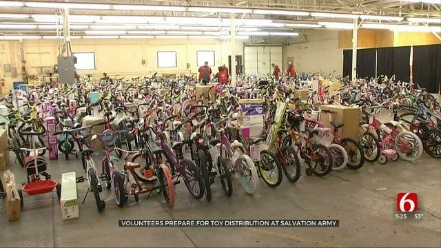 Salvation Army Of Tulsa Distributing Thousands Of Gifts To Needy Kids