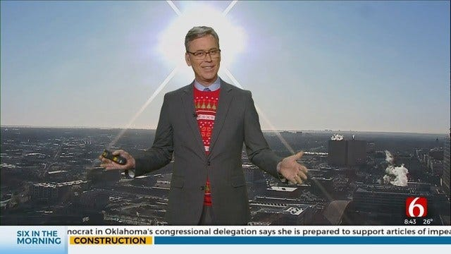 WATCH: Alan Crone Looks Angelic In Christmas Sweater
