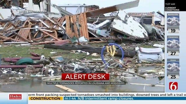 Multiple Tornadoes Leave Destruction In Deep South