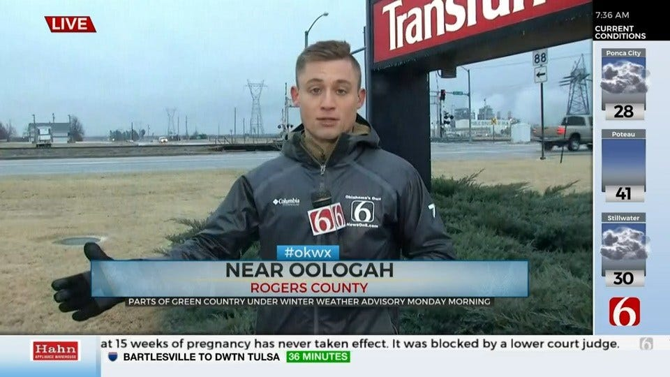 WATCH: Icy Road Conditions In The Oologah Area
